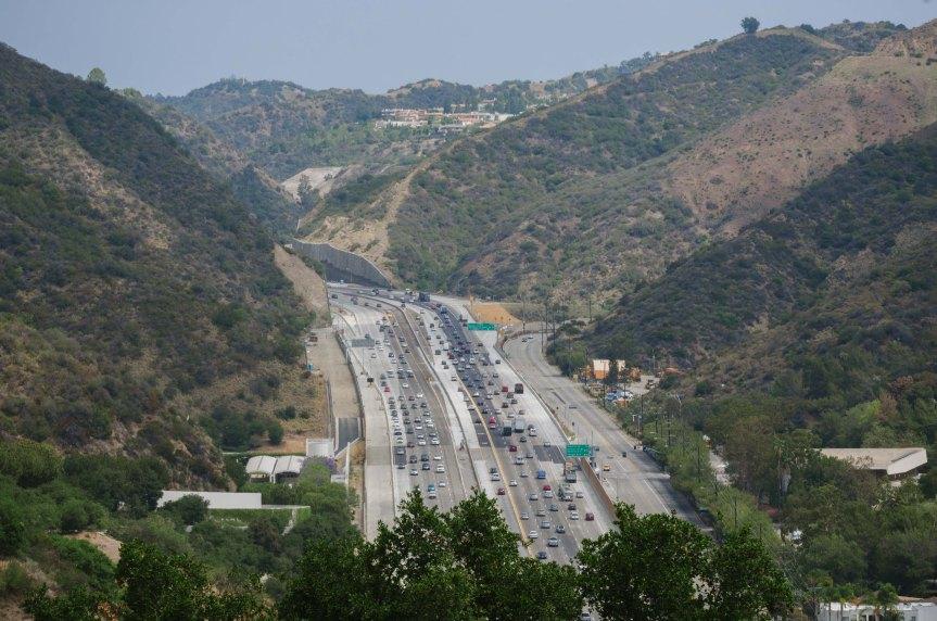 Paso Sepúlveda en la autopista 405. Foto: Steve Hamon/Metro.