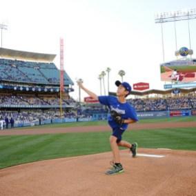 El niño Sean Lukes durante el juego. Foto: Juan Ocampo.
