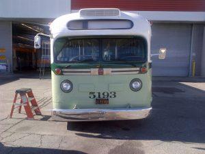 Réplica del autobús que abordó Rosa Parks. Foto: Metro.