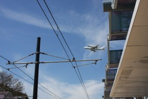 Endeavour over Expo at Expo Park/USC Station. Photo by ExpoLine Fan