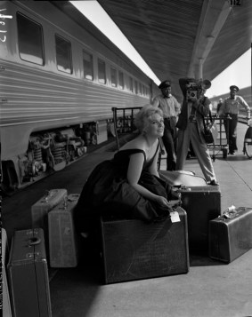 The actress Kim Novak at Union Station in 1956. Credit: Wikimedia Commons.