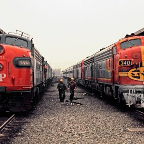 Passenger trains at Union Station in 1971. Photo: Drew Jacksich/Wikimedia Commons.