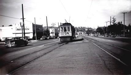 Line 5 at Colorado Boulevard & Argus. Photo by Alan Weeks.