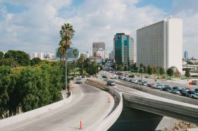 The westbound Wilshire on-ramp to the NB 405 at left, next to the northbound 405 exit to WB Wilshire ramp. Photo by Steve Hymon/Metro.