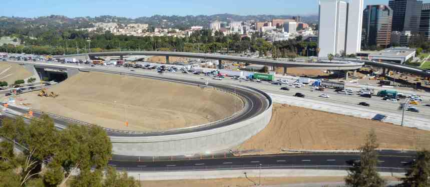 A view of the on- and off-ramps for SB 405 traffic. Photo by Ned Racine/Metro.