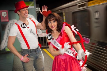 The Metro Cupids were on hand for the speed dating event. Photo by Mark Clifford for Metro.