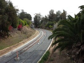 Tracks between Overland and the 10 freeway in Cheviot Hills.