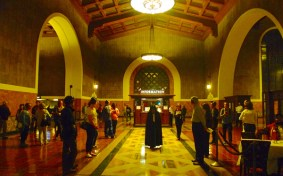 Invisible Cities' first or two performances at Union Station in 2014, this one in the spring. Photo: Metro.