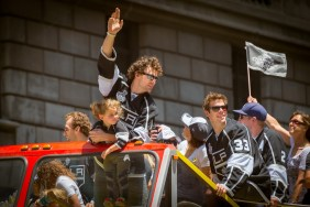 Many fans used Metro Rail to reach the Kings' Stanley Cup victory parade in June. Photo by Steve Hymon/Metro.