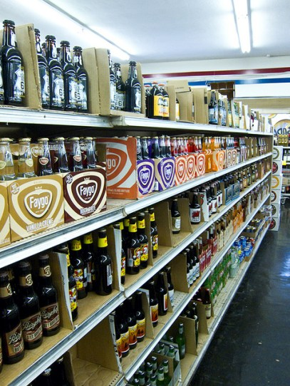 Rare and unique sodas line the shelves at Galco's Old World Market in Highland Park. Image by Dave Schumaker/Flickr CC.