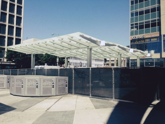 Wilshire Western Purple Line Station Canopy