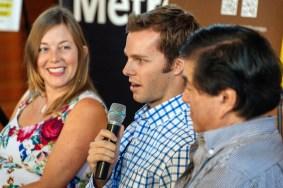 Our esteemed panelists. From left, Alissa Walker, Steven White and Gann Matsuda.