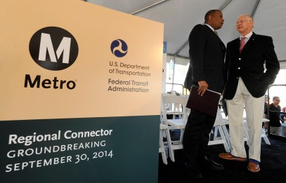 Secretary Foxx and Metro Board Member and Supervisor Mike Antonovich.