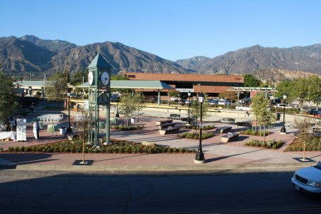 The new Arcadia transit plaza next to the future Gold Line station.