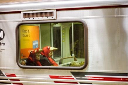 Turkeys on a train!