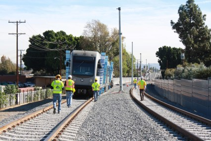 Heading east toward downtown Arcadia. Photo by Gold Line Foothill Extension Construction Authority.