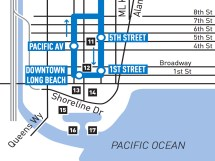 Downtown Long Beach Blue Line loop.