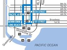 Downtown Long Beach Blue Line loop.