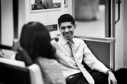 Speed Dating on the Red Line. Photo by Steve Hymon/Metro