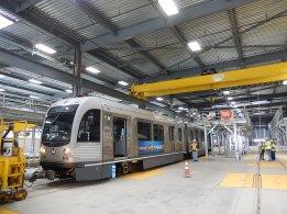 Kinkisharyo Train 002 arrives for testing.