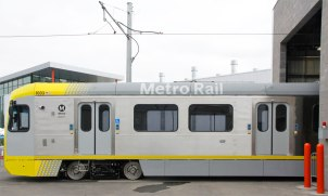 New light rail cars that will be used on the Foothill Extension when it opens next year!