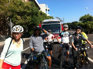"""Cyclists get """"real world"""" experience riding safely on city streets."""