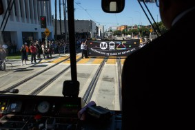 View from the train cab. Photo: Peter Watkinson/Metro