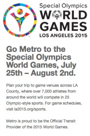 An example of a location prompted landing page for the Special Olympics.