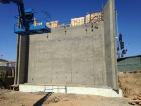 La Brea – Abutment #1 stripped wall
