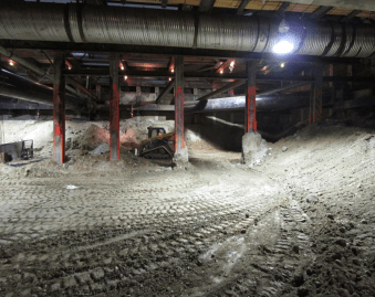 Crenshaw/MLK station excavation in August 2015.
