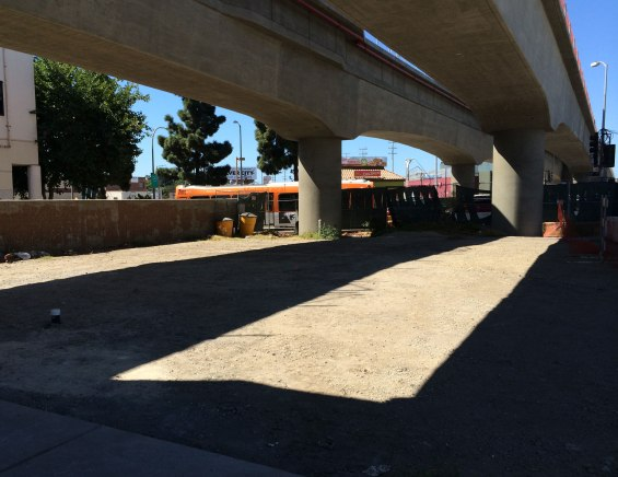 Future Metro Bike Hub at Culver City Expo Line Station that is scheduled to open in late 2016.