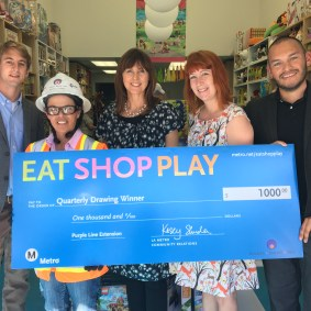 Grand Prize winner of Purple Line Extension area: Kate Paul of Los Angeles/ Miracle Mile Toys