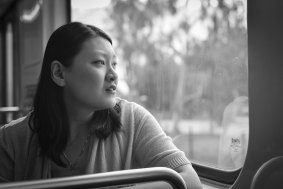 Metro's Anna Chen scanning the horizon for exciting new donut shop opportunities. Photo by Steve Hymon/Metro.