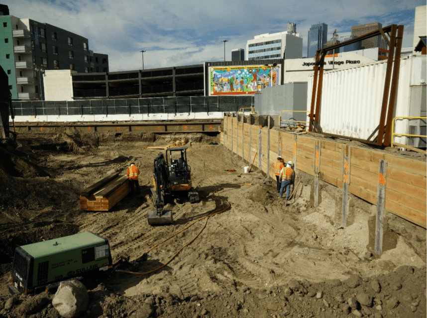 Excavation of 1st/Central Station.