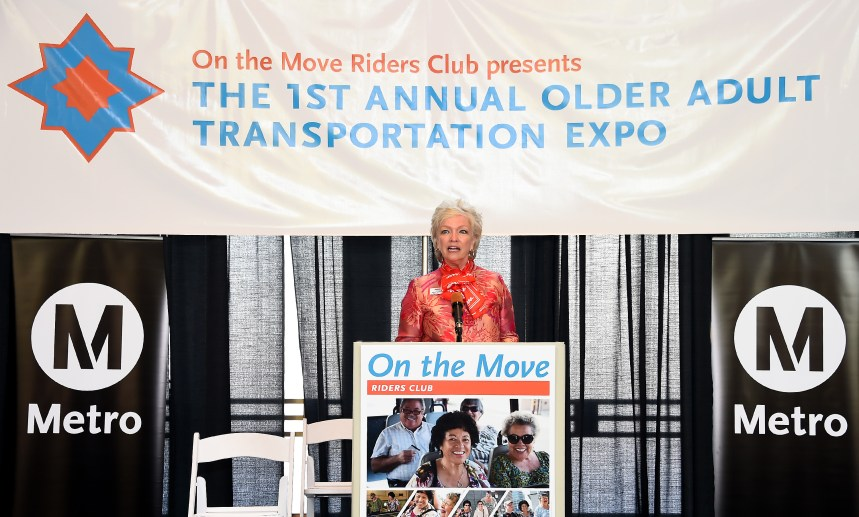 Nancy McPherson, AARP California State Director at Metro First Older Adult Transportation Expo.