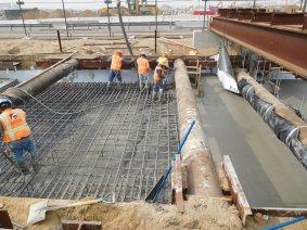 Work at street level above the northern underground segment.