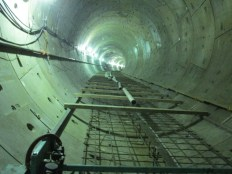The southbound tunnel under Crenshaw Boulevard.