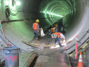 More work in the southbound tunnel.