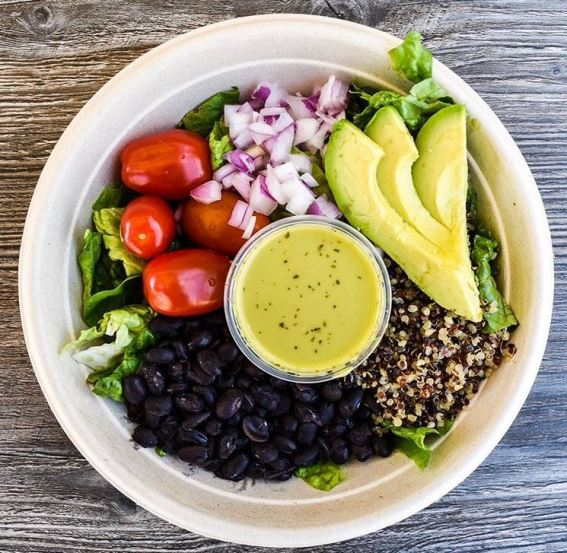 Avocado Lime Quinoa Bowl. Photo via Guacamaya Oasis Instagram.