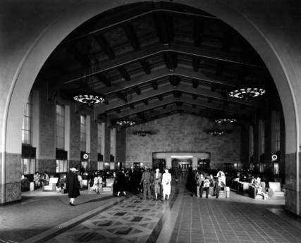Union Station main concourse, 1939.