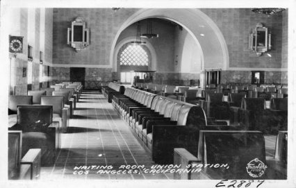 Union Station Waiting Room, 1939. Photo courtesy of Pomona Public Library.