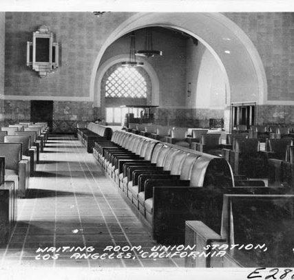 Union Station Waiting Room, 1939 Photo courtesy of Pomona Public Library.