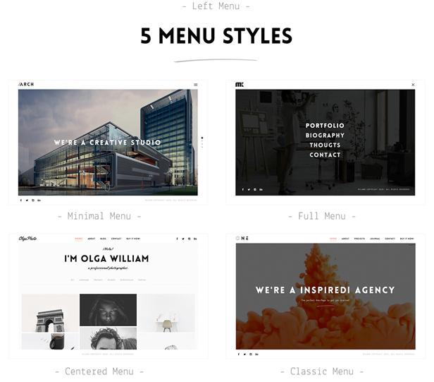 wordpress advanced menus