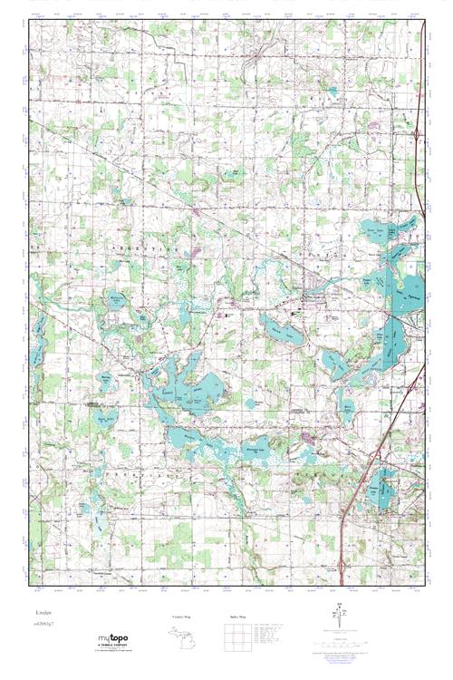 Mytopo Linden Michigan Usgs Quad Topo Map