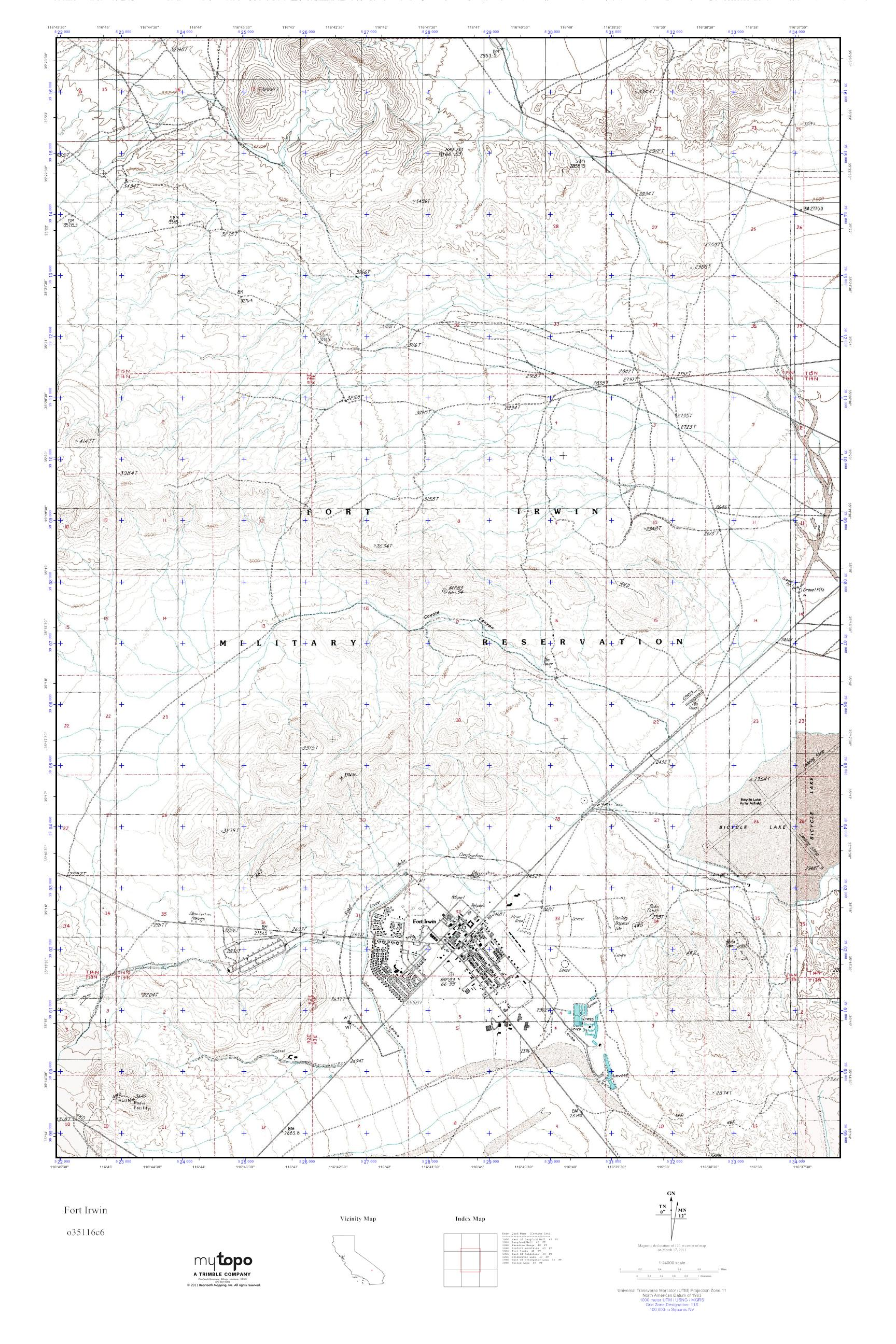Fort Irwin Map