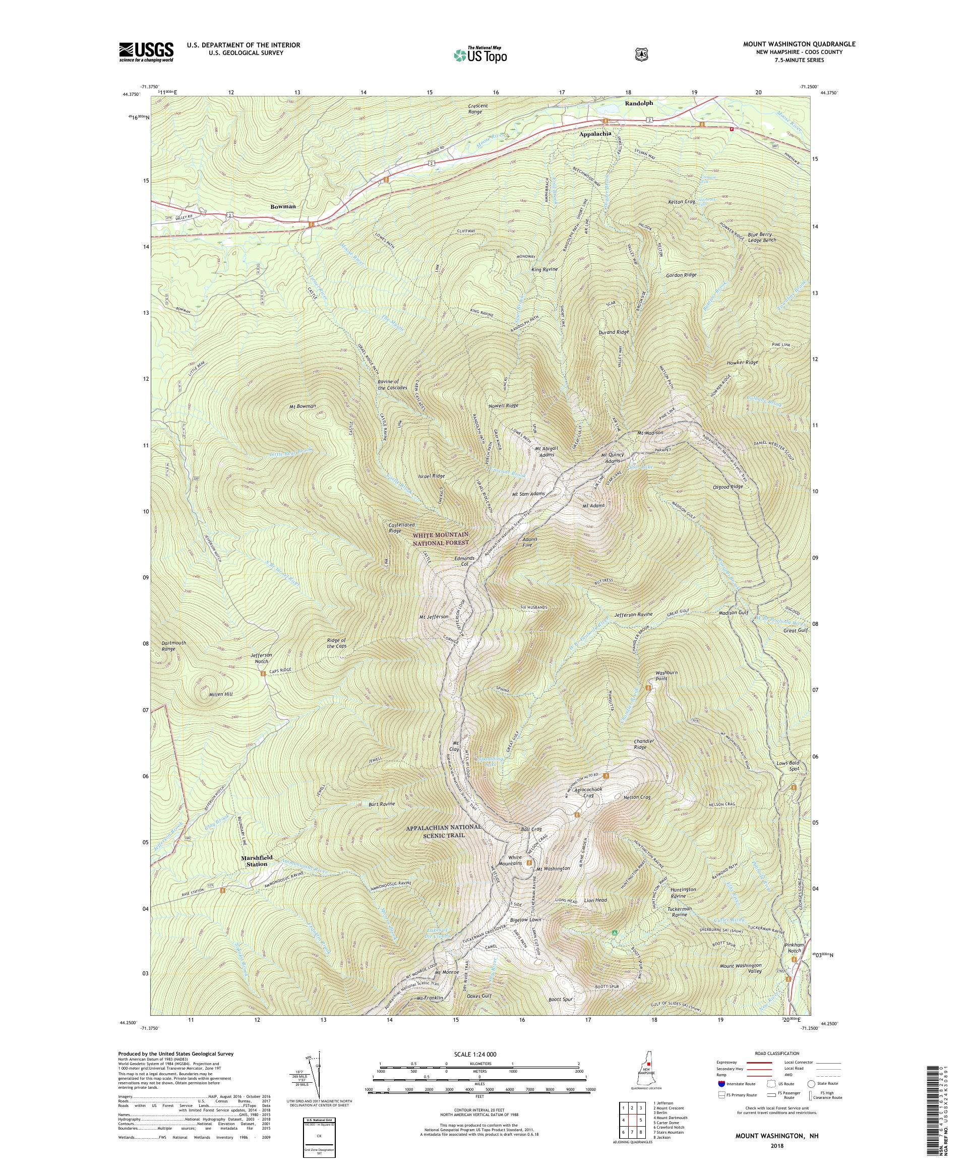 Topographic Map Of Us