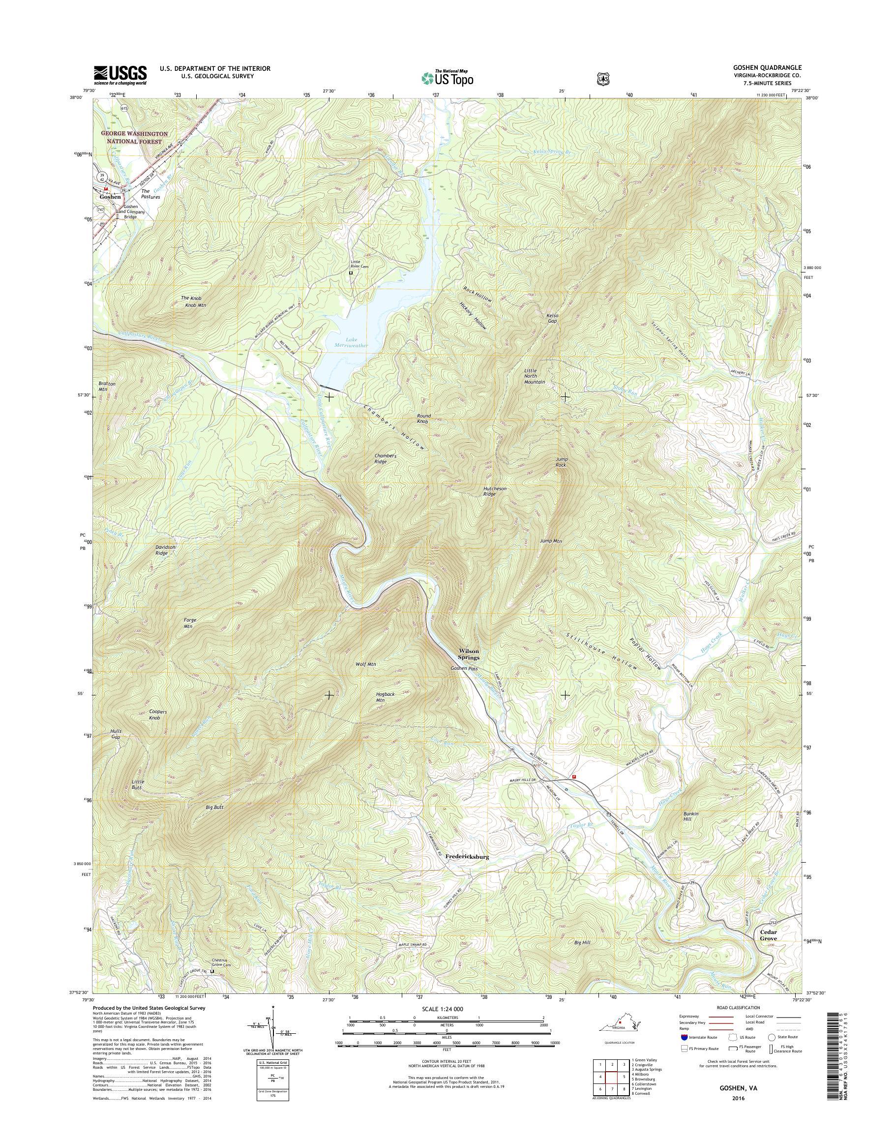 Mytopo Goshen Virginia Usgs Quad Topo Map