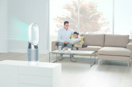 The Dyson Pure Hot + Cold cools, warms, and purifies the air in your home