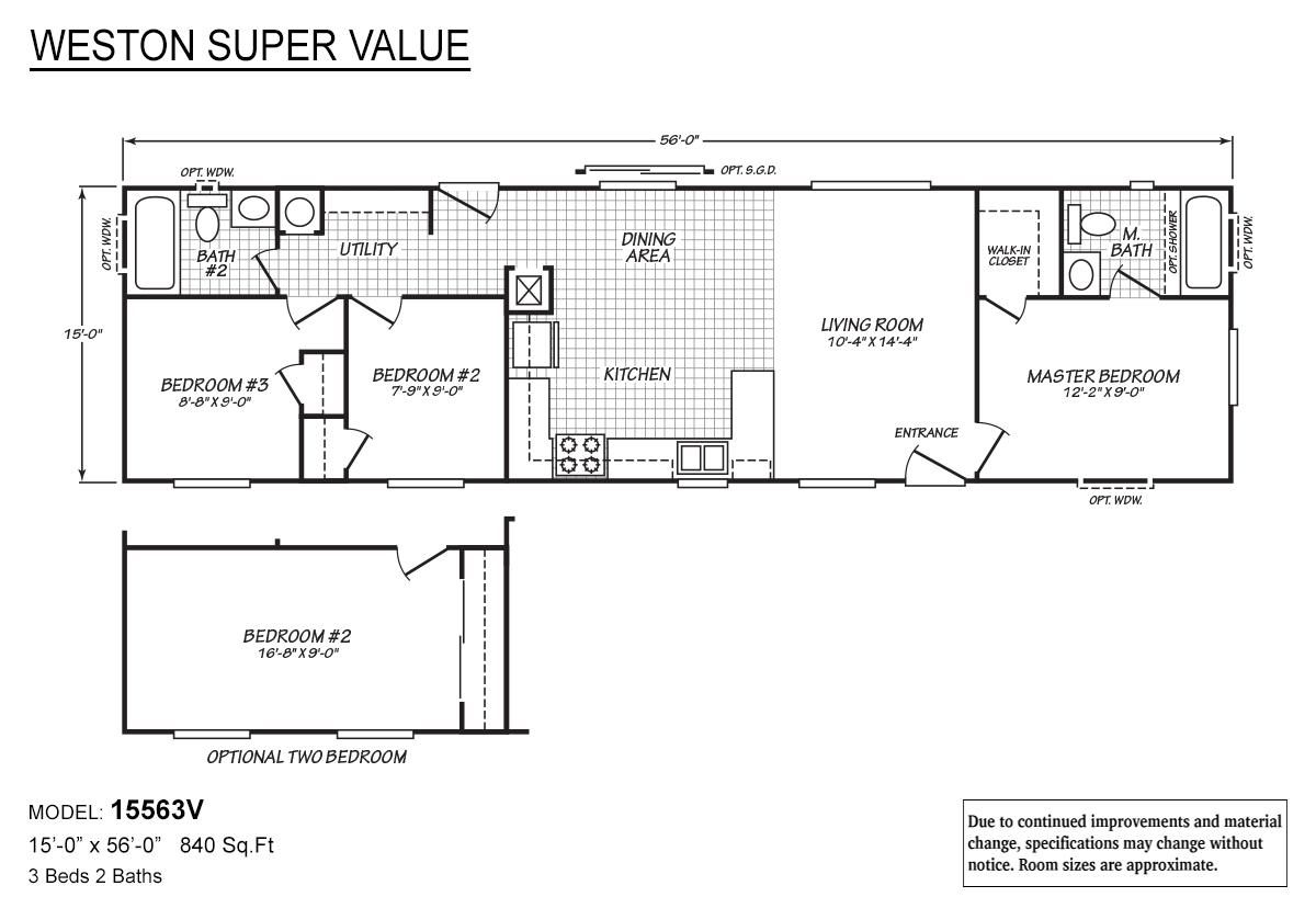 weston super value v by fleetwood homes woodburn