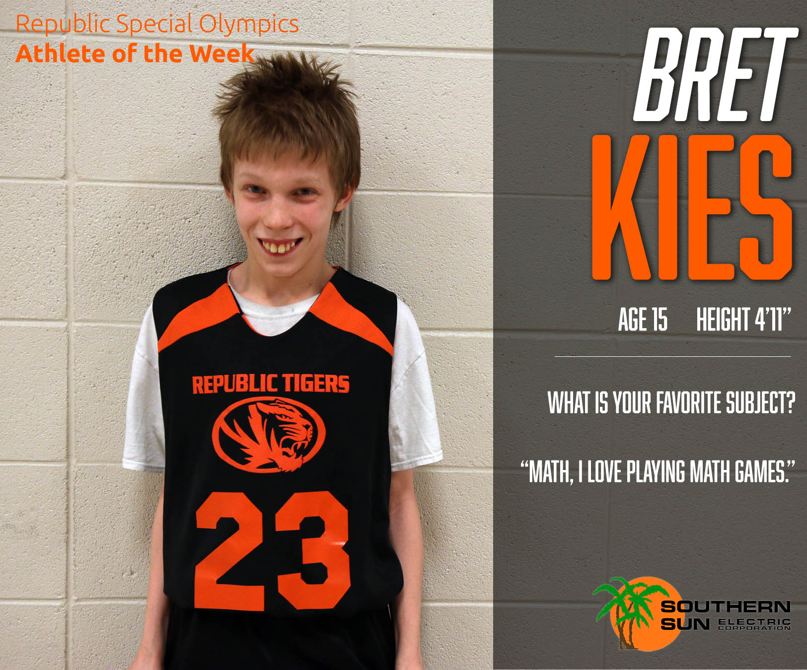 Special Olympics Athlete Of The Week